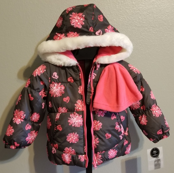 Girls Size 12m Clothing, Shoes & Accessories London Fog Girls Outerwear Insulated Hoodie Lined Jacket Purple